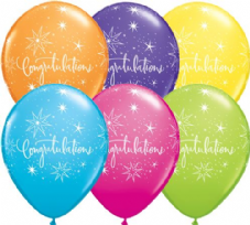 Congratulations Assorted Colour Balloons